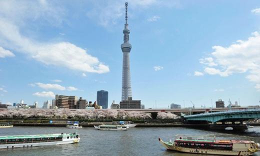 Tokyo Skytree của Nhật Bản hiện là tháp truyền hình cao nhất thế giới với chiều cao 634m.