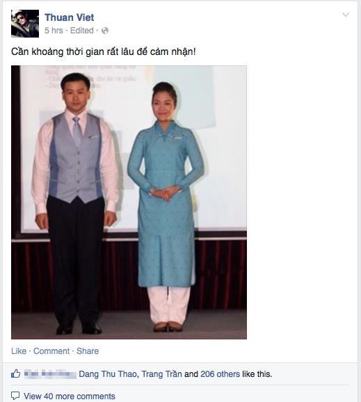 NTK Thuận Việt cần thời gian để cảm nhận bộ đồng phục mới. - Tin sao Viet - Tin tuc sao Viet - Scandal sao Viet - Tin tuc cua Sao - Tin cua Sao