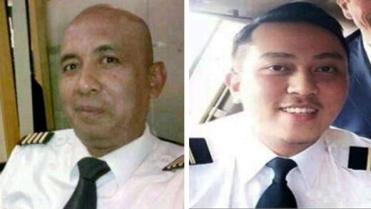 Cơ trưởng trên chuyến bay MH370, Zaharie Ahmad Shah (53 tuổi), và phi công phụ Fariq Abdul Hamid. Tờ Telegraph (Anh) ngày 22/3 đăng nội dung cuộc đối thoại cuối cùng với phi công trong buồng lái MH370 và đài kiểm soát không lưu ở Malaysia. Phi công Fariq nói: 'Ổn rồi, chúc ngủ ngon'. Ảnh: BBC