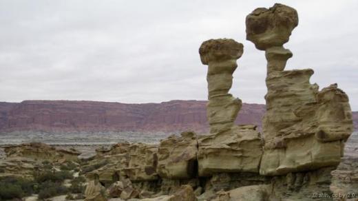 Cảnh quan tại Thung lũng Trăng, Argentina gồ ghề và khô cằn như bề mặt Mặt Trăng, nhưng trên thực tế đây là một nghĩa địa hóa thạch. Khu vực này chứa lớp trầm tích có khoảng 250 triệu năm trước. Tại đây, các nhà khoa học còn phát hiện hóa thạch khủng long cổ đại, động vật bò sát, lưỡng cư và hơn 100 loài cây. Ảnh: AHLN