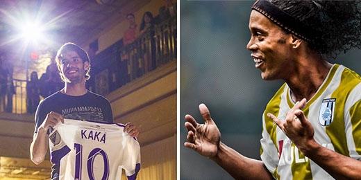 Mặc dù đã bước qua thời đỉnh cao, nhưng Kaka và Ronaldinho vẫn có mặt trong top 10