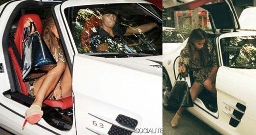 Ronaldo sử dụng chiếc Mercedes trong một lần chở bạn gái cũ Irina Shayk. Trong thời gian hơn 4 năm cặp đôi này hẹn hò, người hâm mộ ít khi bắt gặp CR7 lái xe đưa bạn gái đi chơi hoặc dự sự kiện.