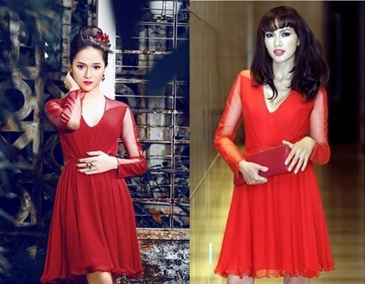 Thiết kế hiện đại, năng động của chiếc váy đã góp phần không nhỏ làm tăng thêm vẻ rực rỡ cho Hương Giang Idol và Anh Thư.