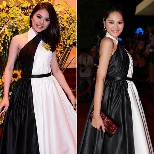 Vân Trang và Hương Giang đều được đánh giá rất đẹp khi cùng mặc một trang phục.