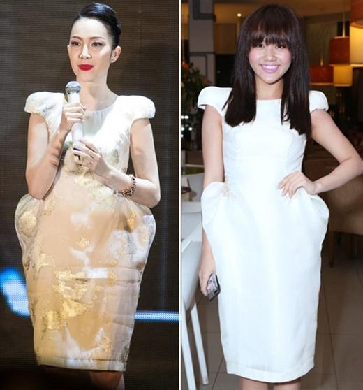 Chiếc váy với kiểu dáng hình chuông này được rất nhiều nghệ sĩ Việt lựa chọn. Dù có cách kết hợp khác nhau nhưng không thể phủ nhận rằng, Ngô Thanh Vân, Văn Mai Hương và Linh Nga đều rất thanh lịch, tinh tế.