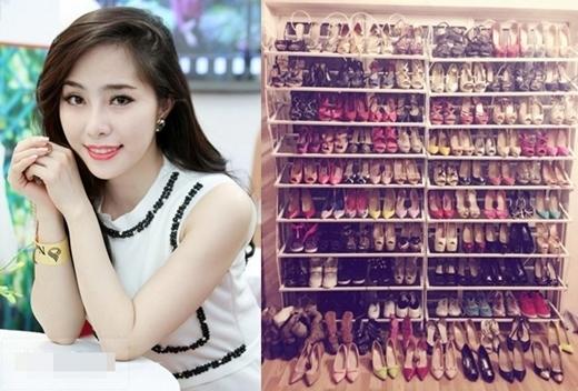 Tủ giày của Quỳnh Nga có thể dễ dàng làm nhiều người lầm tưởng đây là tủ giày của một ngôi sao Hollywood nào đó. - Tin sao Viet - Tin tuc sao Viet - Scandal sao Viet - Tin tuc cua Sao - Tin cua Sao