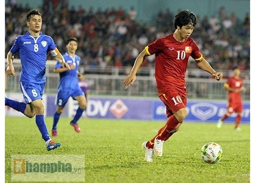 Không như 2 trận đấu trước, Công Phượng được HLV Miura cho đá trọn 90 phút trong cuộc đối đầu với U23 Uzbekistan