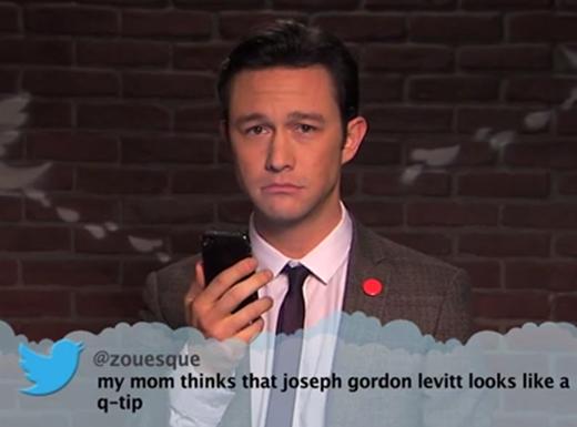 Nam diễn viên điển trai Joseph Gordon chỉ biết chết lặng khi đọc dòng tweet: 'mẹ của tôi nghĩ rằng Joseph Gordon Levitt trông giống một cái que thử thai'.