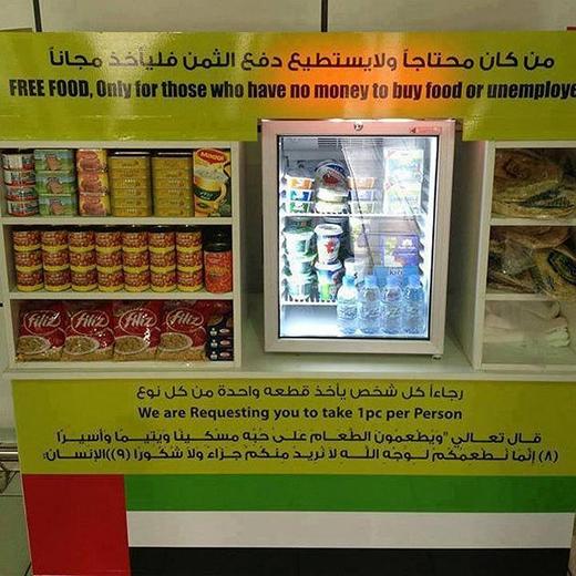 Một góc của quầy thức ăn miễn phí dành cho người nghèo.
