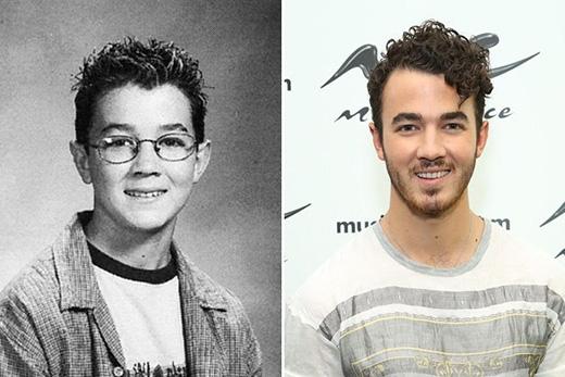 Kevin Jonas có vẻ là một anh chàng 'mọt sách' thời còn đi học