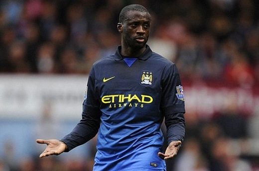 10. Yaya Toure (Man City).