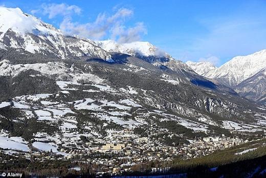 Khu vực núi Alps nơi xảy ra vụ tai nạn