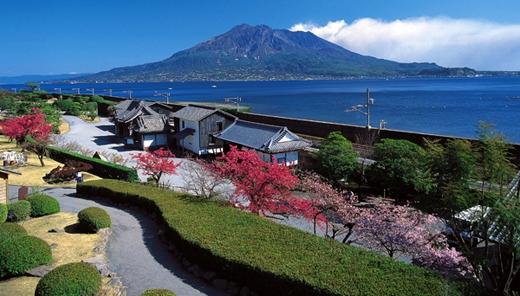 Được xây dựng theo phong cách truyền thống Nhật Bản, khu vườn Senganen ở Kagoshima như một bức tranh thiên nhiên hài hòa với hồ nước, đền thờ, hoa anh đào và những rừng tre, trúc.