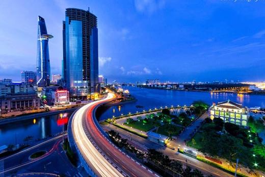 Một góc Sài Gòn khi đêm về.