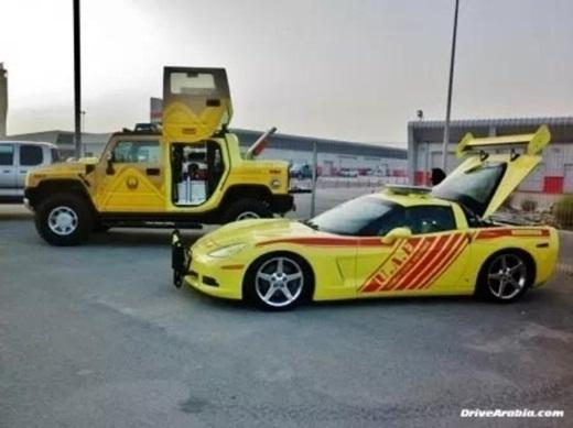 Những chiếc xe nổi bật của đội phòng cháy chữa cháy ở Dubai.