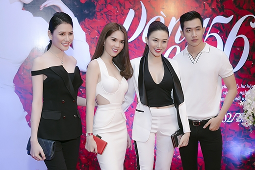 Nhiều bạn bè thân thiết đã đến ủng hộ phim mới về cuộc đời và sự nghiệp của Ngọc Trinh.