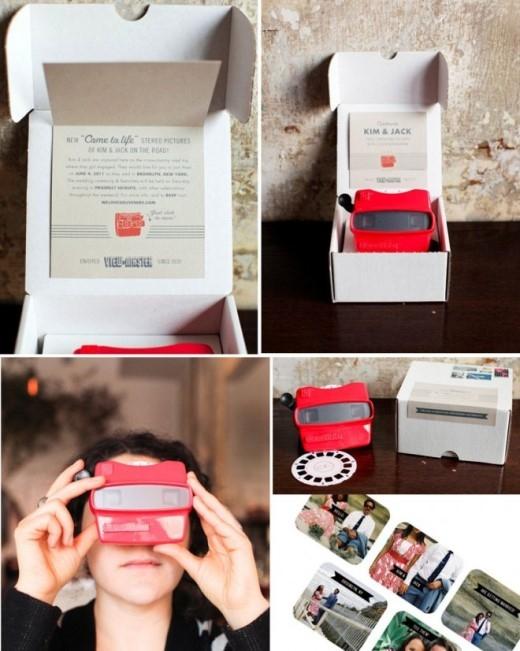Cặp cô dâu - chú rể này thật 'chịu chơi' khi tặng kèm máy xem ảnh trong bộ thiệp cưới của mình