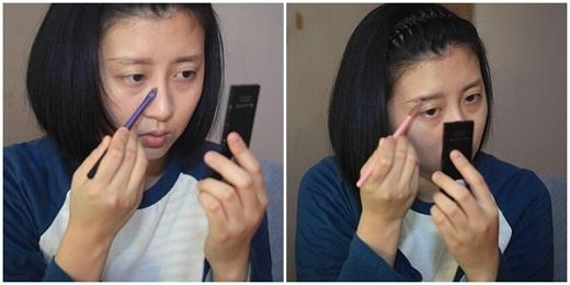 Cô cho biết chỉ nên thoa nhẹ nhàng, đừng dùng lực xoa quá mạnh sẽ khiến cho mắt trông như bị nổi phù vậy.