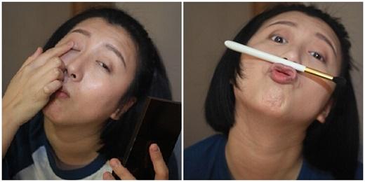 Lúc này, cô nàng cũng không quên dành lời khen cho chiếc mũi của mình 'thật là cao!'