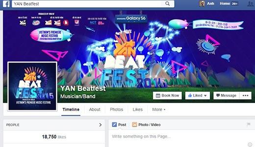Ngay sau khi những thông tin đầu tiên được công bố, lượng like của fanpage Yan Beatfest tăng đột biến. Tất cả mọi người đều muốn cập nhật những thông tin nóng nhất, nhanh nhất từ sự kiện này.