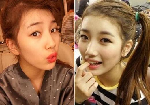 Suzy từng chia sẻ rằng những cọng tóc con mọc trên trán là điều khiến cô cảm thấy khó chịu nhất.