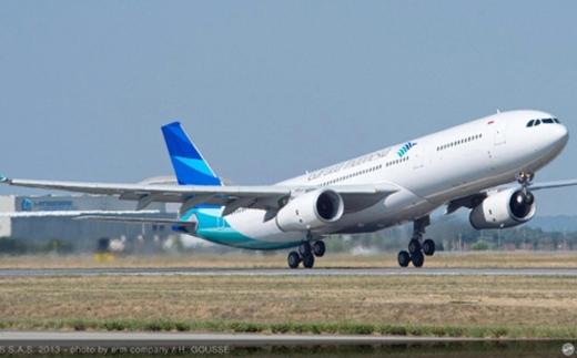 Chiếc máy bay của hãnghàng không Garuda Indonesia
