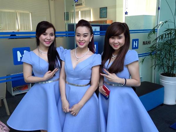 Thuý Nga (giữa) và hai thành viên hiện tại của Mắt Ngọc là Hoàng Oanh (trái) và Ngọc Dung. - Tin sao Viet - Tin tuc sao Viet - Scandal sao Viet - Tin tuc cua Sao - Tin cua Sao