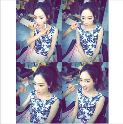Taeyeon cực xinh đẹp trong hậu trường chụp tạp chí