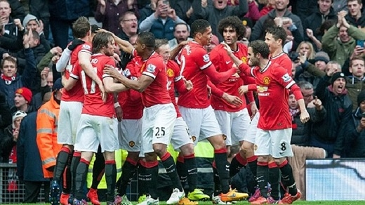 Manchester United thắng lớn Manchester City.