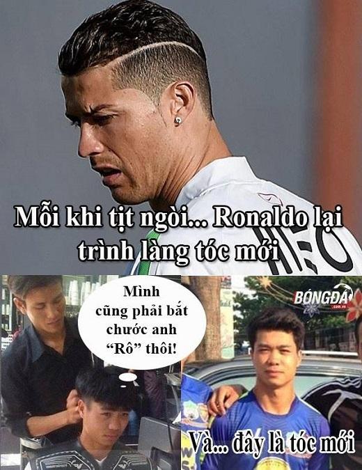 Công Phượng bắt chước Ronaldo… đổi kiểu tóc khi tịt ngòi.
