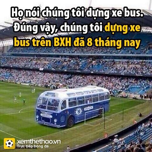 Xe bus thì đã sao? (Fan Chelsea phản công sau chiến thắng.)