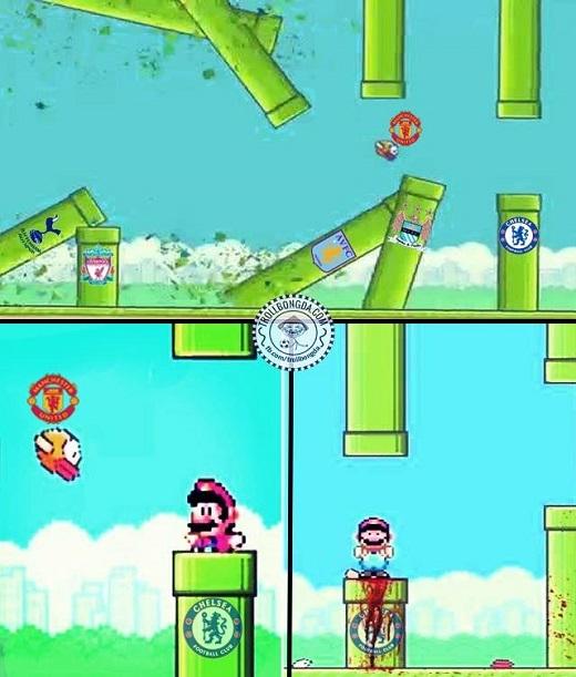 'Chim điên United' chết thảm vì ông nước Mario-Chelsea