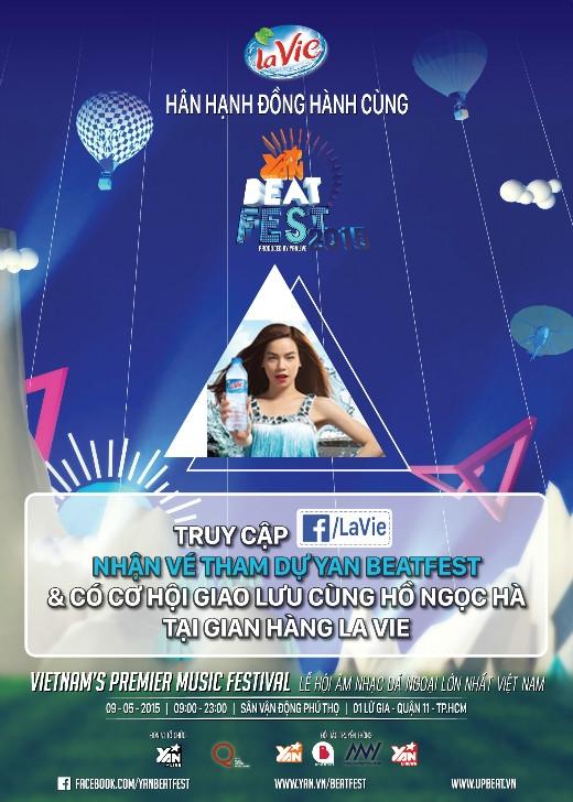 Tham dự Yan Beatfest để thỏa các cơn khát của chính bạn và có cơ hội giao lưu cùng Hồ Ngọc Hà tại gian hàng La Vie nào.