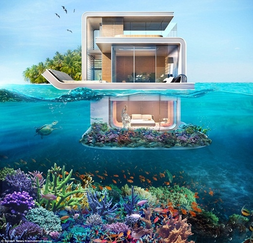 Biệt thự nửa chìm nửa nổi siêu sang chảnh cho giới nhà giàu ở Dubai