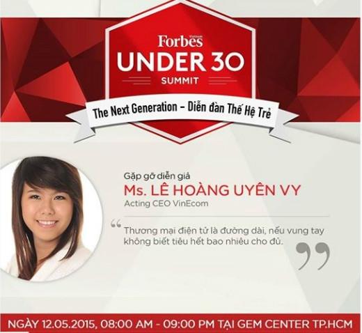 """""""Ngôi sao mới"""" Lê Hoàng Uyên Vy và lần đầu tiên là diễn giả tại Under 30 Summit"""