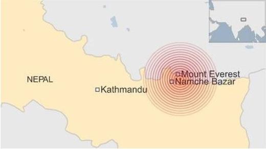 Hình ảnh về trận động đất vừa mới xảy ra ở Nepal