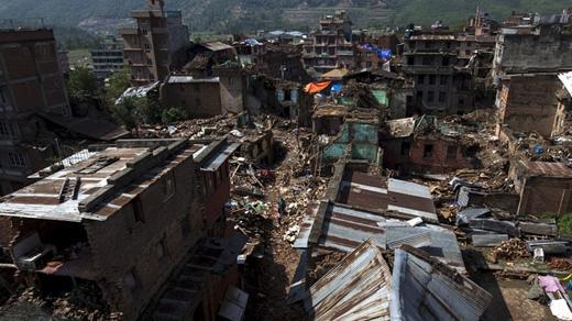 Hình ảnh hoang tàn của trận động đất ở Nepal