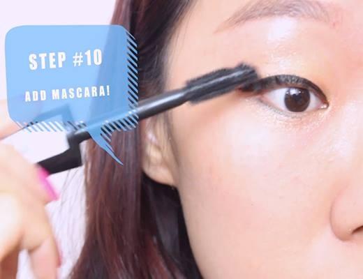 Sử dụng mascara.