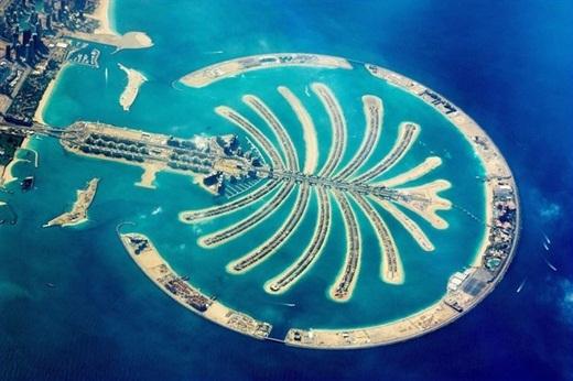 Quần đảo nhân tạo lớn nhất thế giới với hình cây cọ.