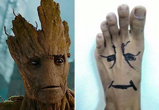 Bạn hãy thử làm anh chàng Groot của Vệ binh dải ngân hà.