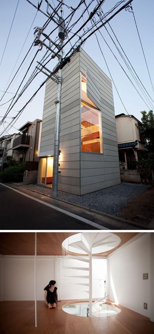 Nhà ống thiết kế lạ ở Tokyo.