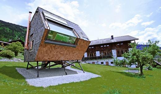 'Nhà có chân' ở Áo.