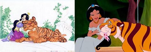 Jasmine bản phác thảo có tạo hình khá giống với phiên bản chính thức