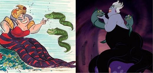 Mụ phù thủy biển Ursula vẫn giữ được nét ác độc từ phiên bản đầu tiên