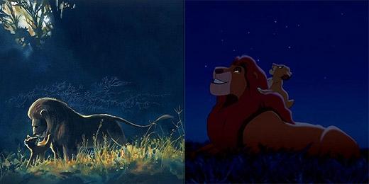 Vua sư tử Musafa và con trai Simba