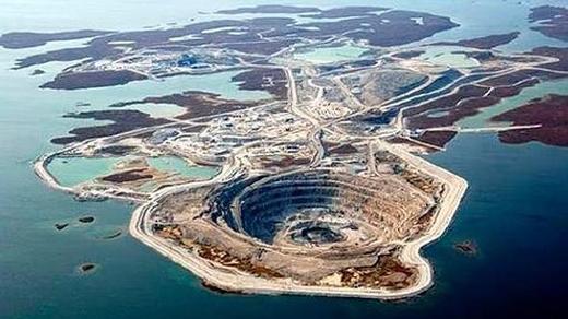 Mỏ kim cương Diavik, Canada