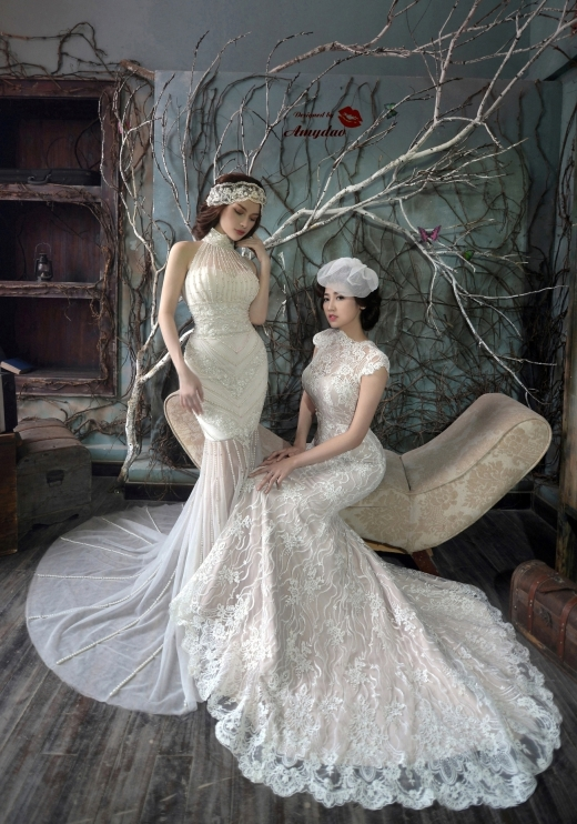 Nhà thiết kế Amy Đào cùng Á Hậu Tú Anh làm mẫu cho bst cưới của mình. - Tin sao Viet - Tin tuc sao Viet - Scandal sao Viet - Tin tuc cua Sao - Tin cua Sao