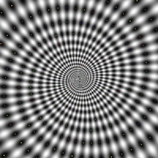 Bạn có thể trải nghiệm cảm giác bị 'cuốn' vào một vòng xoáy nếu nhìn chăm chăm vào trung tâm bức ảnh đấy!