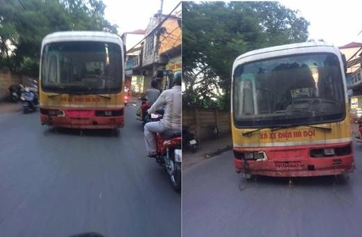 Hình ảnh 'chiếc xe buýt ma' đi trên đường phố Hà Nộikhiến cho nhiều người bất ngờ, hoang mang không rõ thực hư. Chiếc xe buýt 'tồi tàn' và không có ai ngồi trên xe khiến cho nhiều người phải 'rùng mình' sợ hãi.