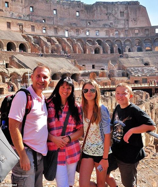 Ảnh chụp gia đình Réka ở Rome.